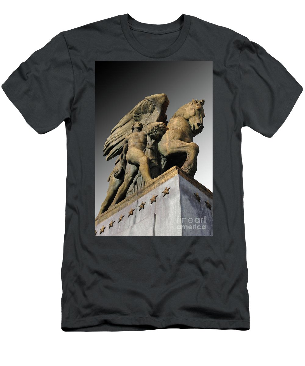 Arlington Men's T-Shirt (Athletic Fit) featuring the photograph Art Of Peace by Jost Houk