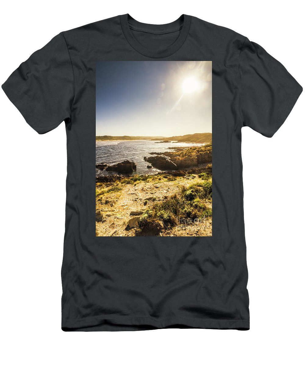 Arthur River Men's T-Shirt (Athletic Fit) featuring the photograph Arthur River Tasmania by Jorgo Photography - Wall Art Gallery