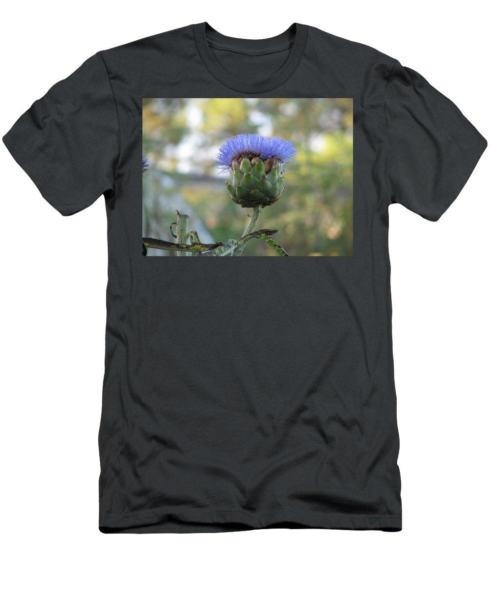 Artichoke Men's T-Shirt (Athletic Fit) featuring the photograph Artichoke by Kelly Mezzapelle