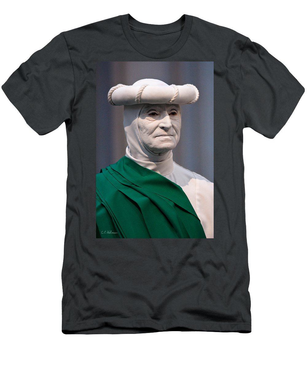 Artist Men's T-Shirt (Athletic Fit) featuring the photograph Artist In The Pale by Christopher Holmes