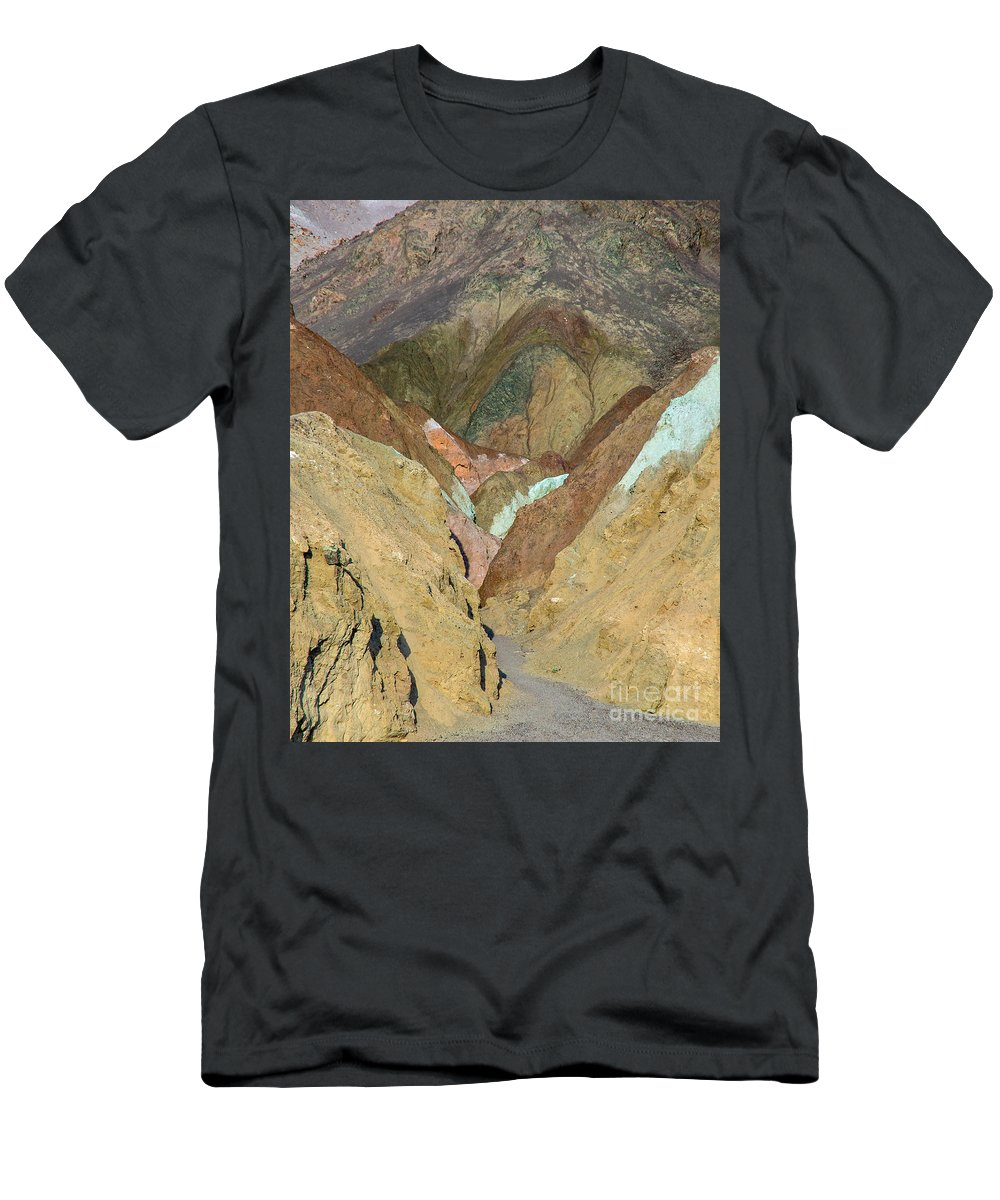 Death Valley Men's T-Shirt (Athletic Fit) featuring the photograph Artist's Brushstrokes by Stephen Whalen