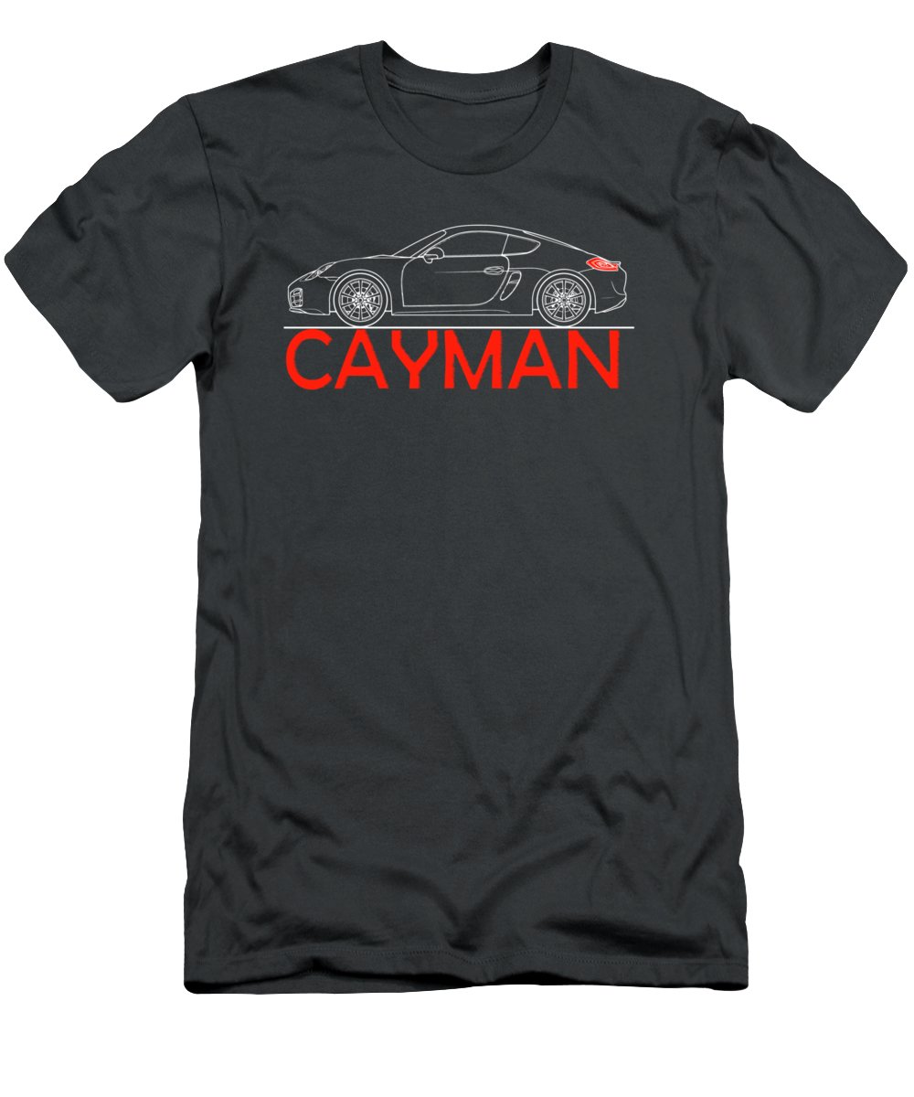 Porsche Cayman Phone Case Men's T-Shirt (Athletic Fit) featuring the photograph Porsche Cayman Phone Case by Mark Rogan