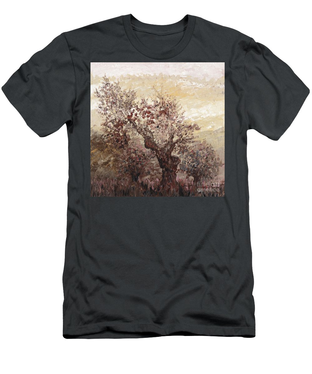 Landscape Men's T-Shirt (Athletic Fit) featuring the painting Asian Mist by Nadine Rippelmeyer