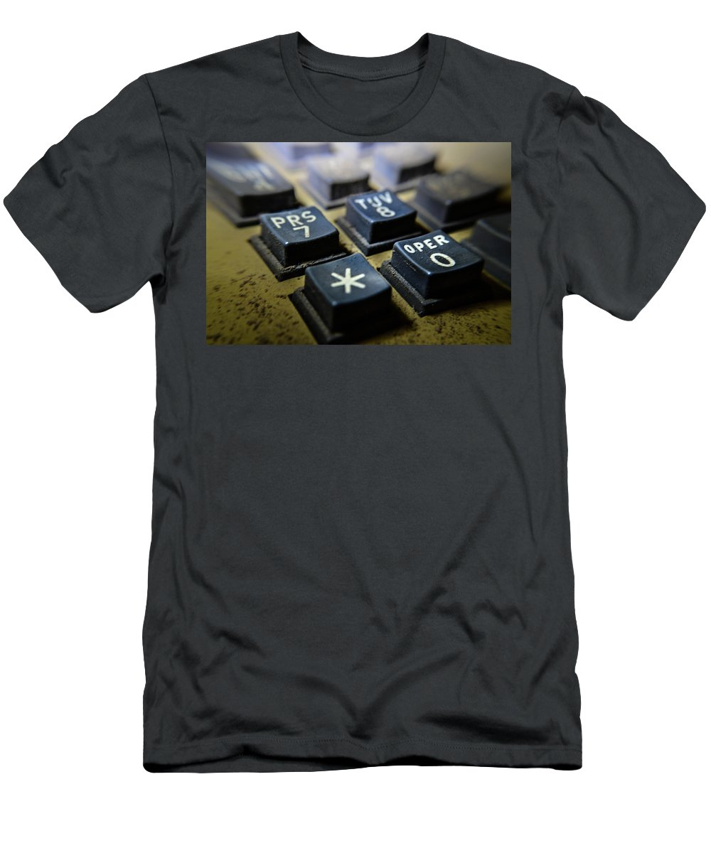 Macro Lens Men's T-Shirt (Athletic Fit) featuring the photograph Asterisk by Miranda Strapason