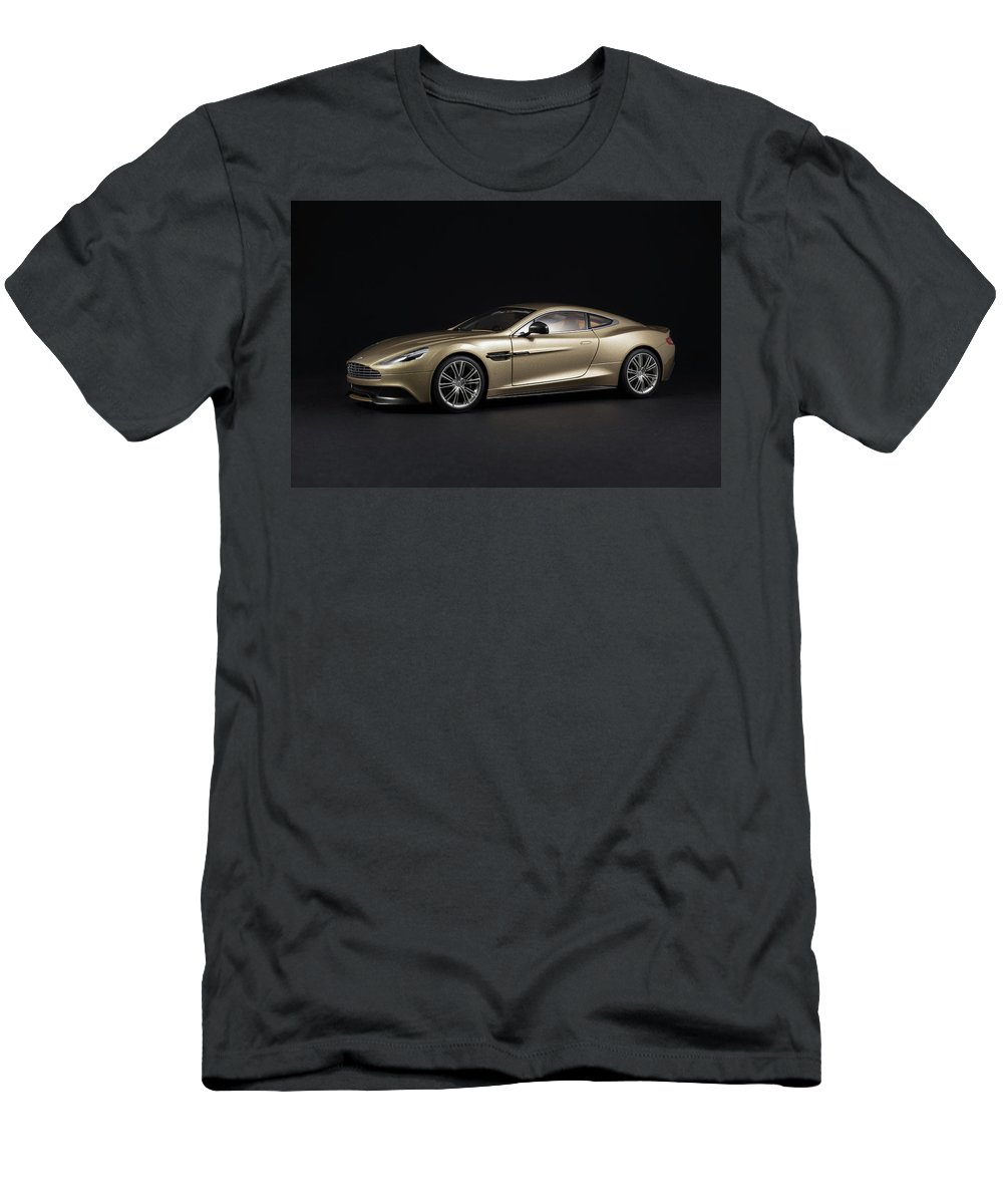 Aston Martin Men's T-Shirt (Athletic Fit) featuring the photograph Aston Martin Vanquish by Evgeny Rivkin
