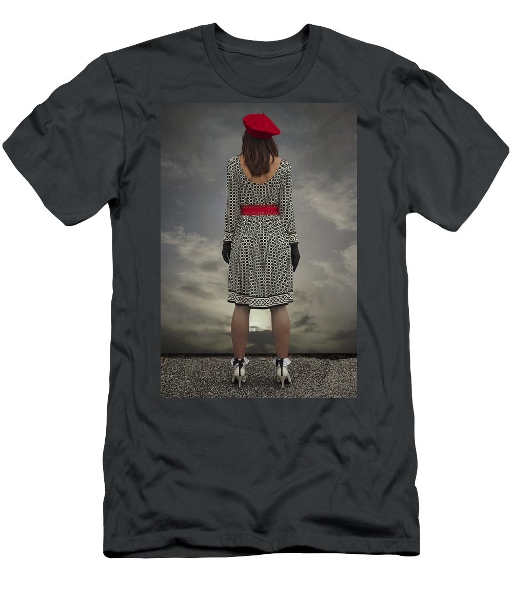 Woman Men's T-Shirt (Athletic Fit) featuring the photograph At The Edge by Joana Kruse
