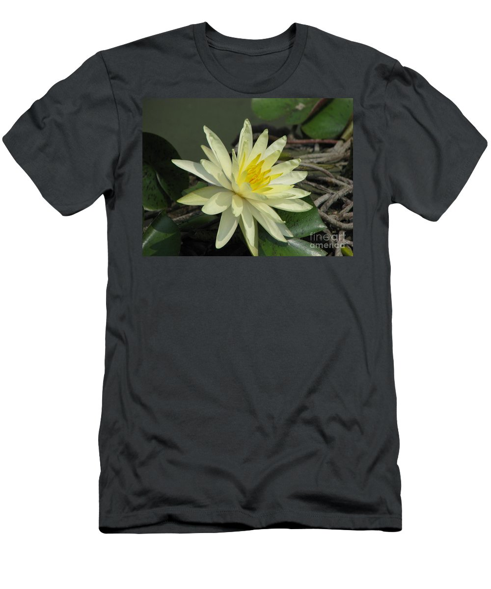 Lilly Men's T-Shirt (Athletic Fit) featuring the photograph At The Pond by Amanda Barcon