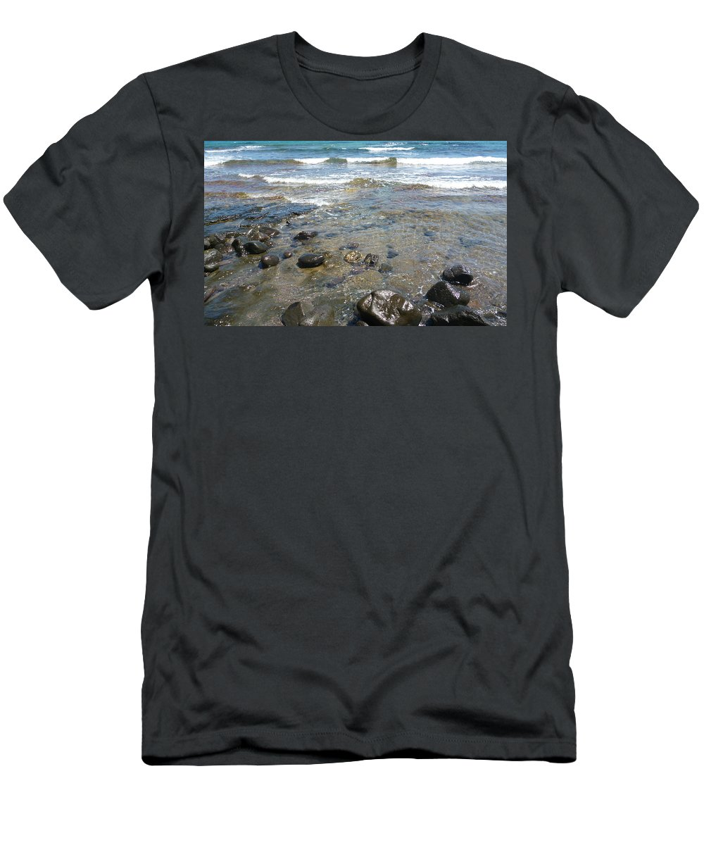 Almeria Men's T-Shirt (Athletic Fit) featuring the photograph At The Shore by Laura Greco