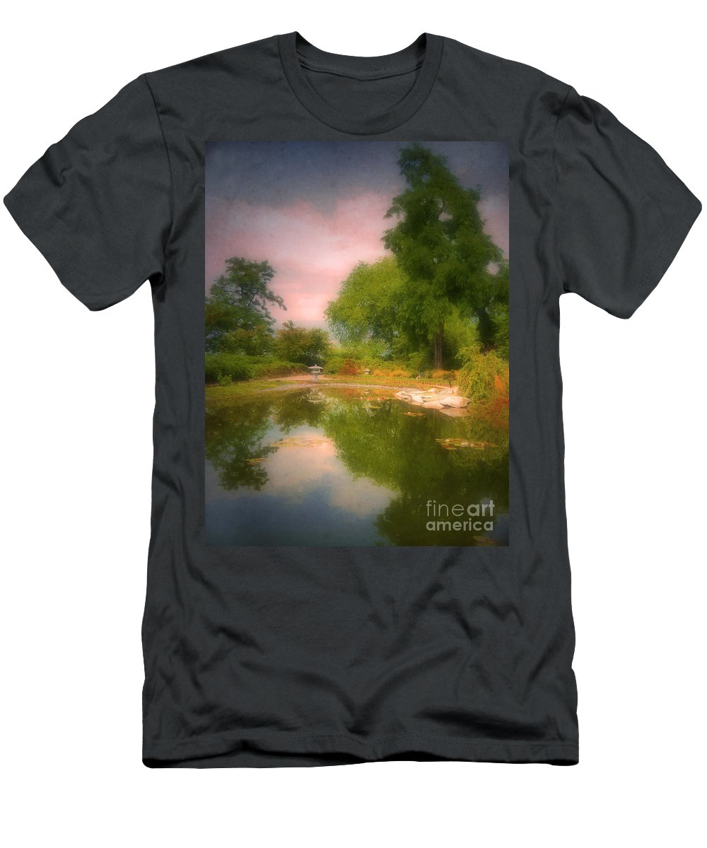 Gardens Men's T-Shirt (Athletic Fit) featuring the photograph August In The Gardens by Tara Turner