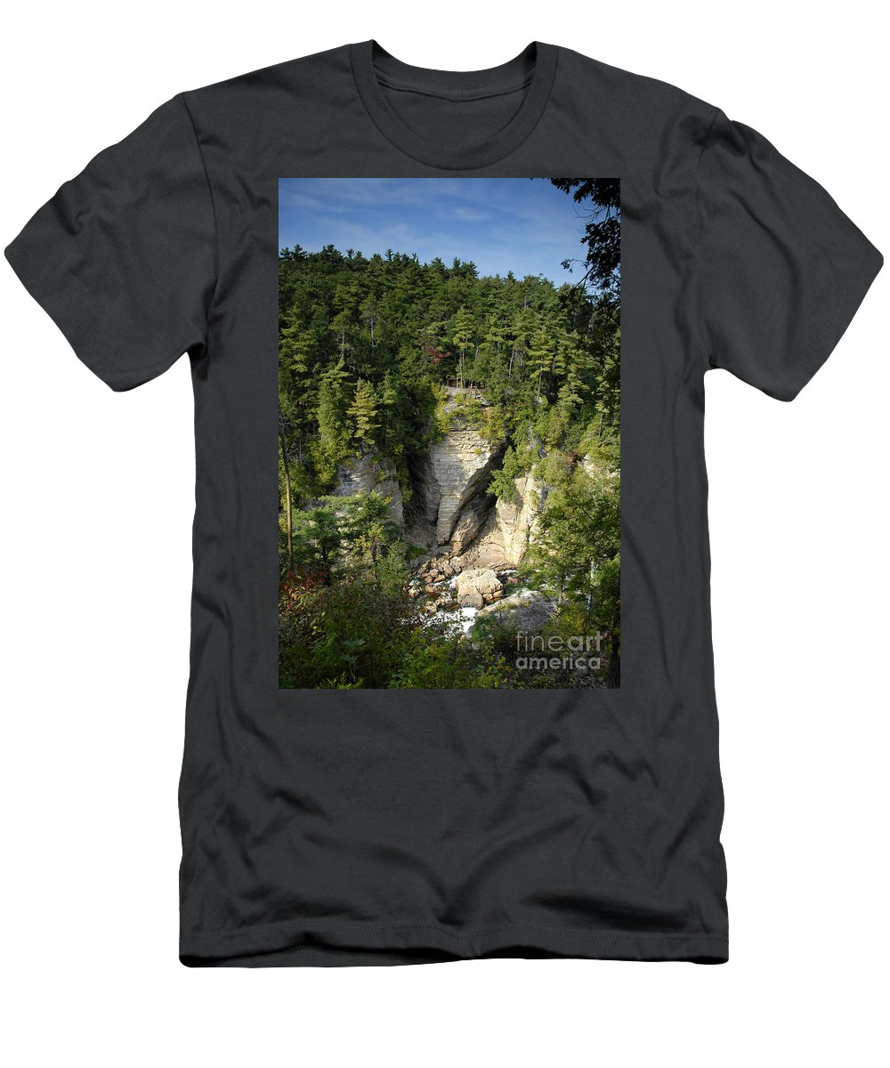 Ausable Chasm Men's T-Shirt (Athletic Fit) featuring the photograph Ausable Chasm by David Lee Thompson