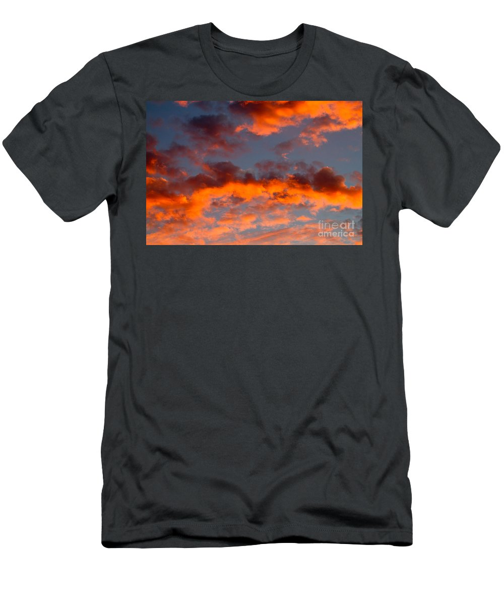 Sunset Men's T-Shirt (Athletic Fit) featuring the photograph Australian Sunset by Louise Heusinkveld