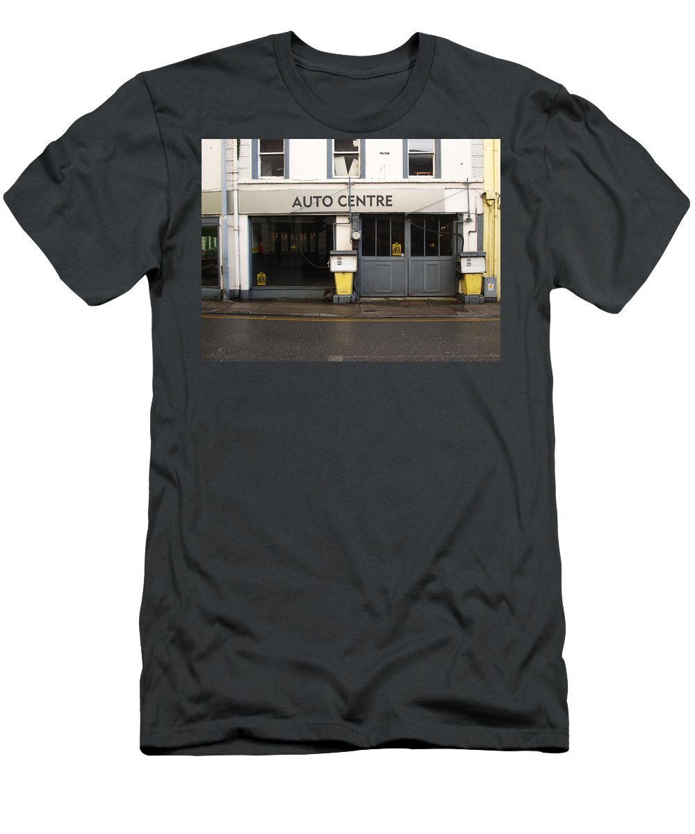 Auto Men's T-Shirt (Athletic Fit) featuring the photograph Auto Centre by Tim Nyberg