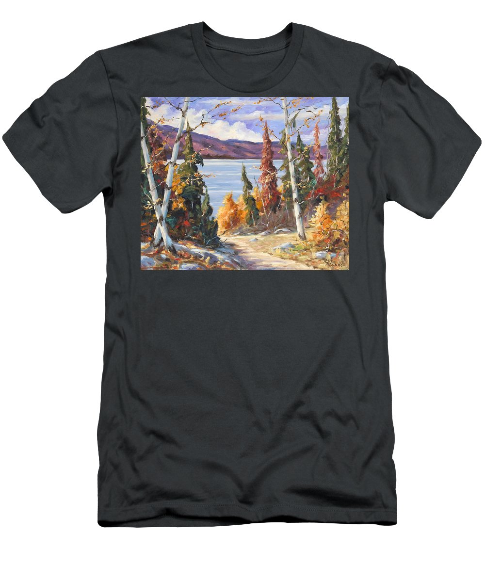 Art Men's T-Shirt (Athletic Fit) featuring the painting Automn Colors by Richard T Pranke