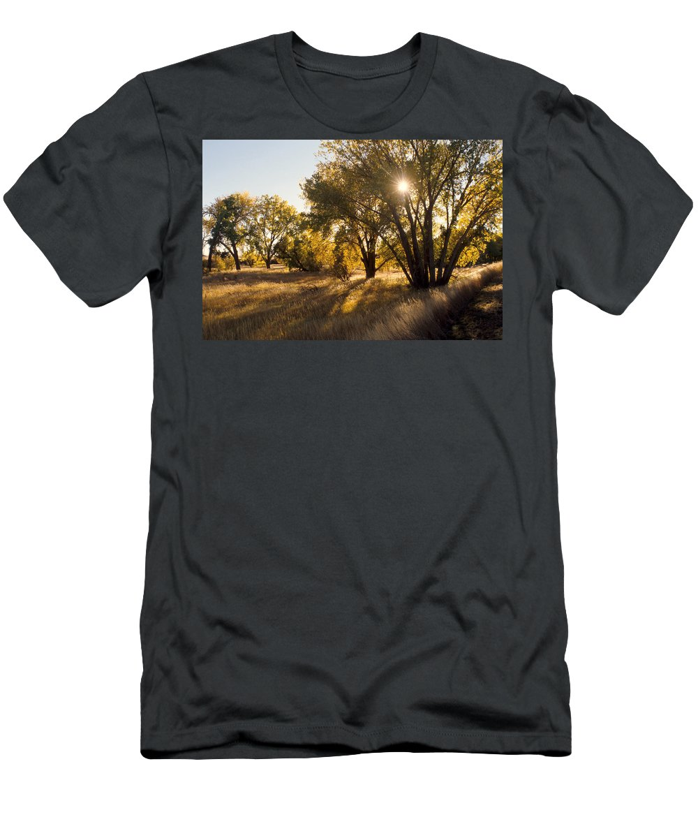 Fall Men's T-Shirt (Athletic Fit) featuring the photograph Autum Sunburst by Jerry McElroy