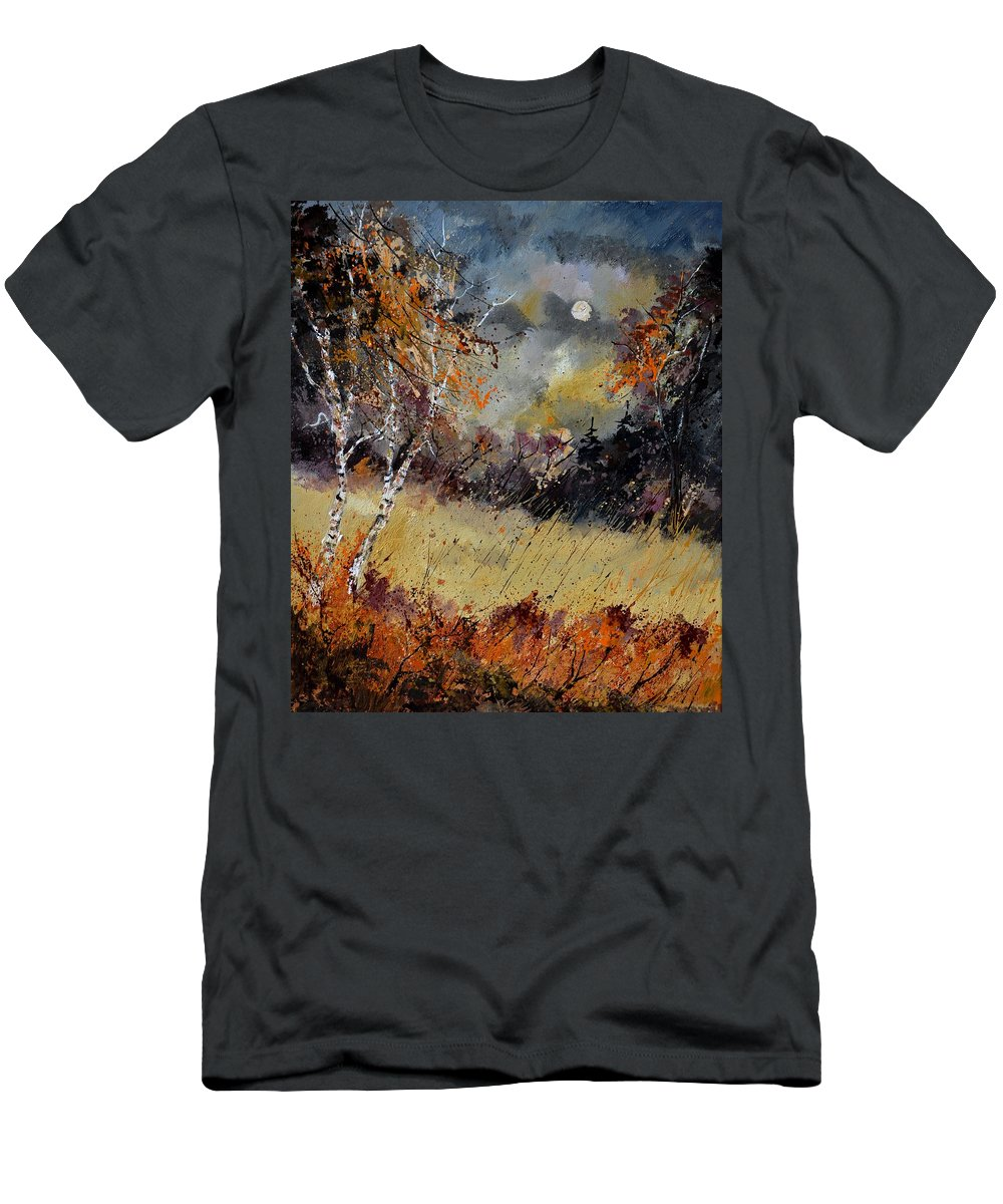 Landscape T-Shirt featuring the painting Autumn 676101 by Pol Ledent