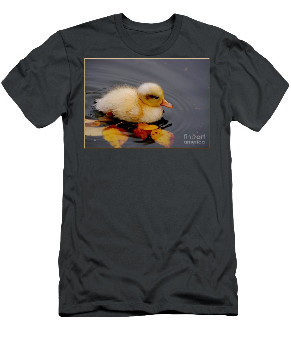 Bird Men's T-Shirt (Athletic Fit) featuring the photograph Autumn Baby by Jacky Gerritsen