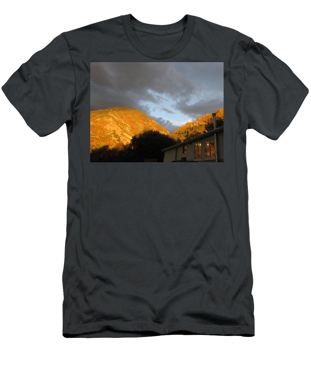 Seasons Men's T-Shirt (Athletic Fit) featuring the photograph Autumn Bliss by Jess' Shots