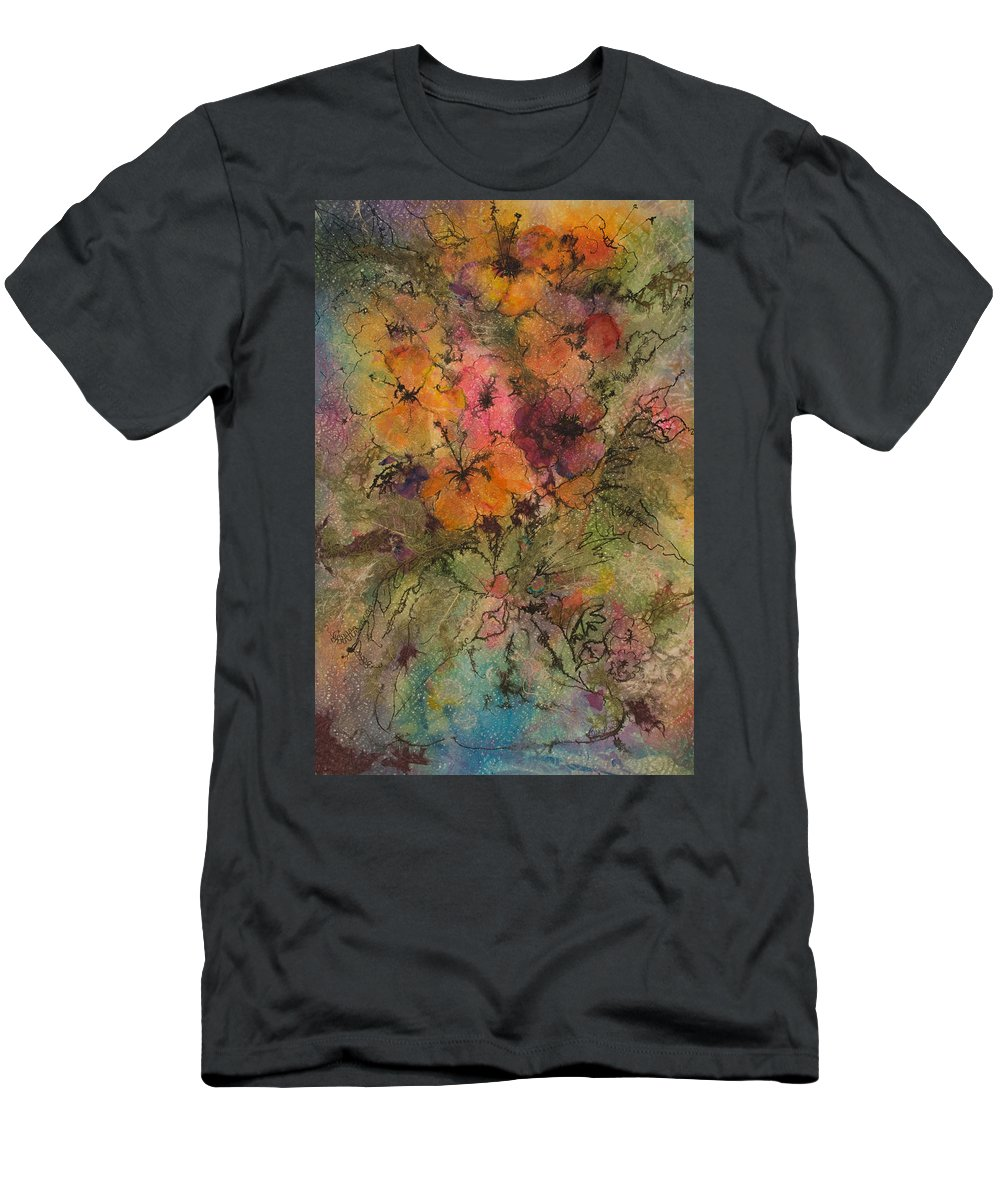 Floral Men's T-Shirt (Athletic Fit) featuring the painting Autumn Blooms by Barbara Colangelo