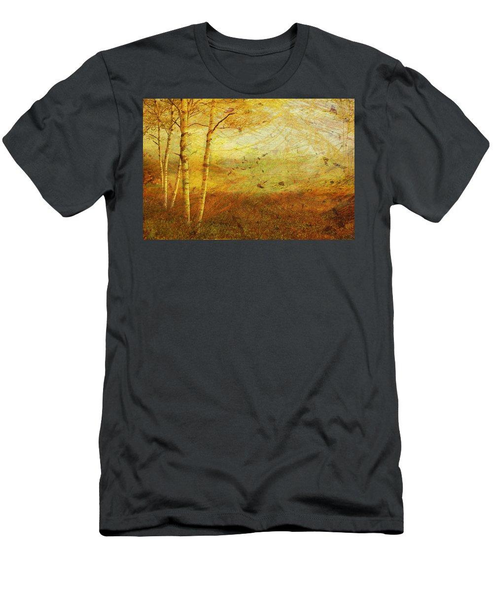 Autumn Men's T-Shirt (Athletic Fit) featuring the digital art Autumn Breeze by Ken Walker
