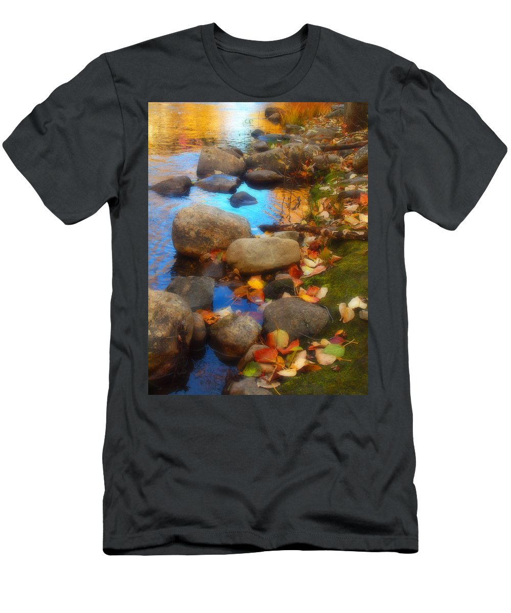 Autumn T-Shirt featuring the photograph Autumn By The Creek by Tara Turner
