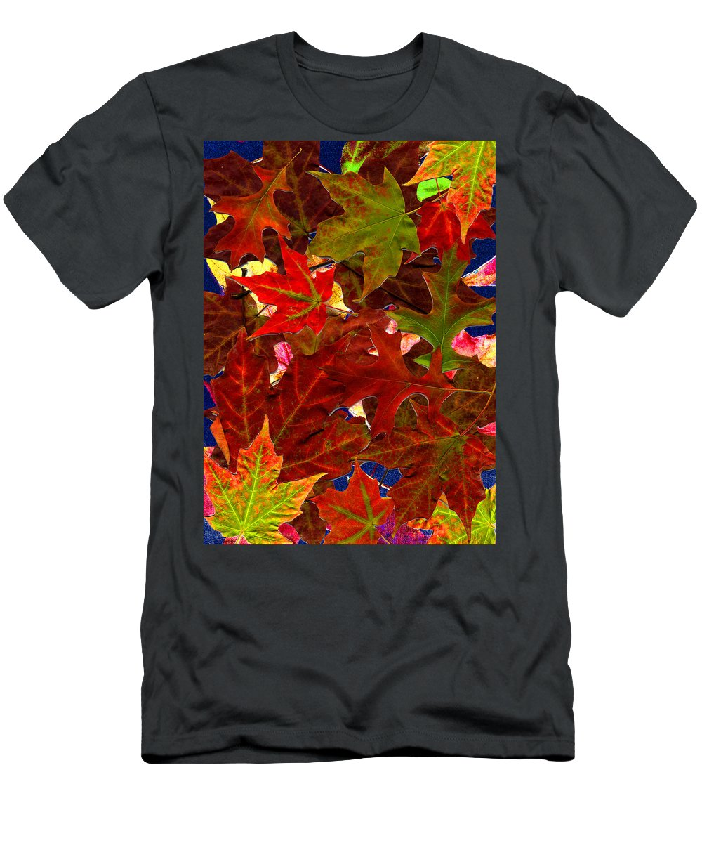 Collage Men's T-Shirt (Athletic Fit) featuring the photograph Autumn Leaves by Nancy Mueller