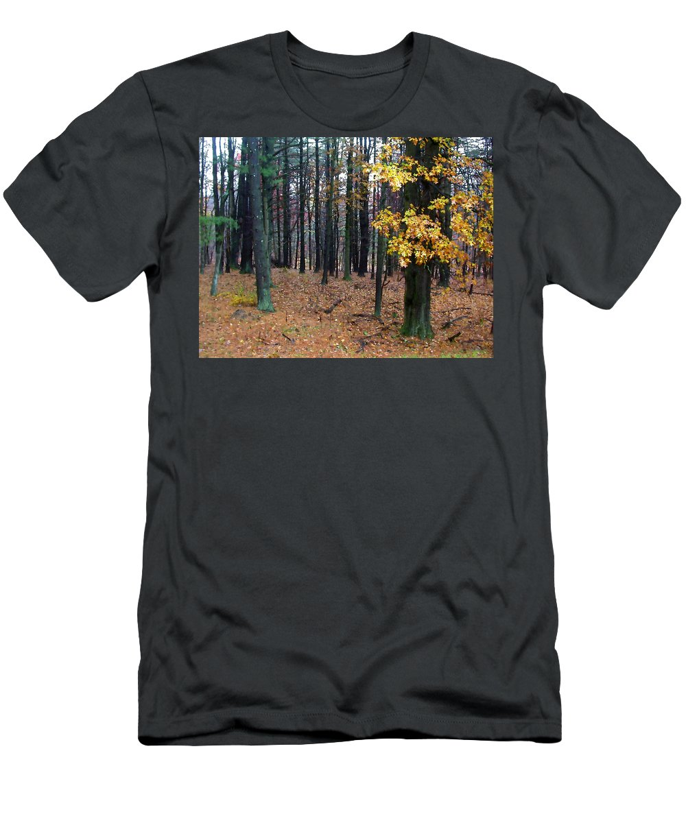 Autumn Men's T-Shirt (Athletic Fit) featuring the painting Autumn Morning by Paul Sachtleben