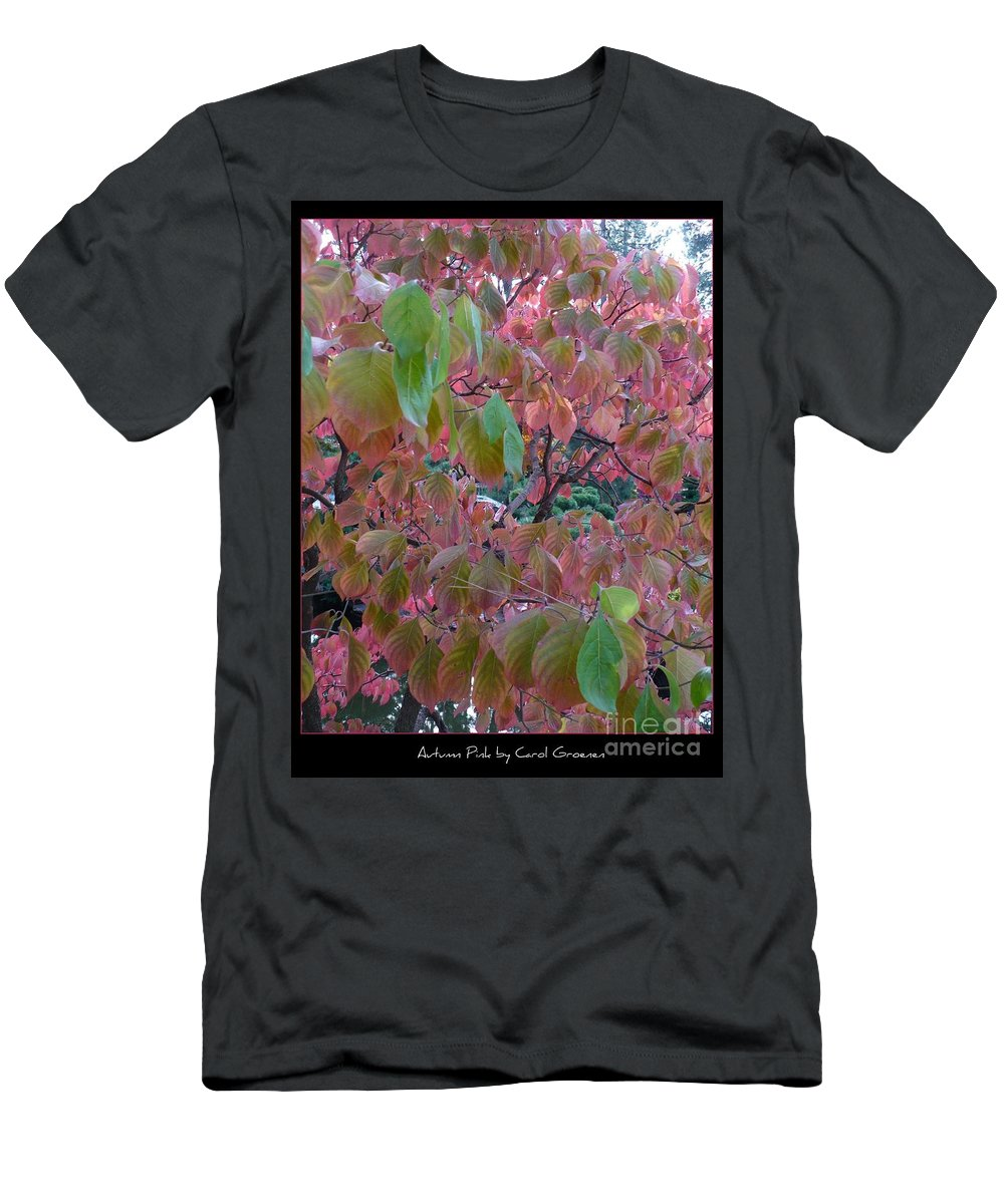 Fall Men's T-Shirt (Athletic Fit) featuring the photograph Autumn Pink Poster by Carol Groenen
