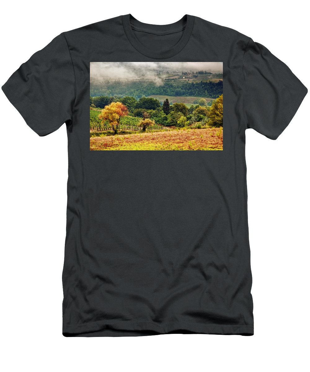 Fall Men's T-Shirt (Athletic Fit) featuring the photograph Autumnal Hills by Silvia Ganora