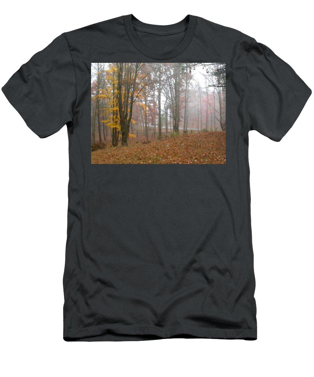 Autumn Men's T-Shirt (Athletic Fit) featuring the painting Autumnal Mist by Paul Sachtleben