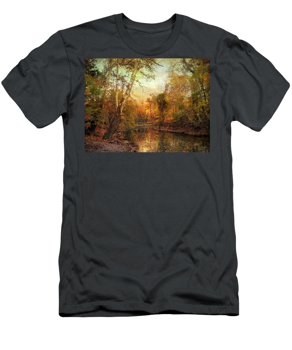 Autumn Men's T-Shirt (Athletic Fit) featuring the photograph Autumnal Tones by Jessica Jenney