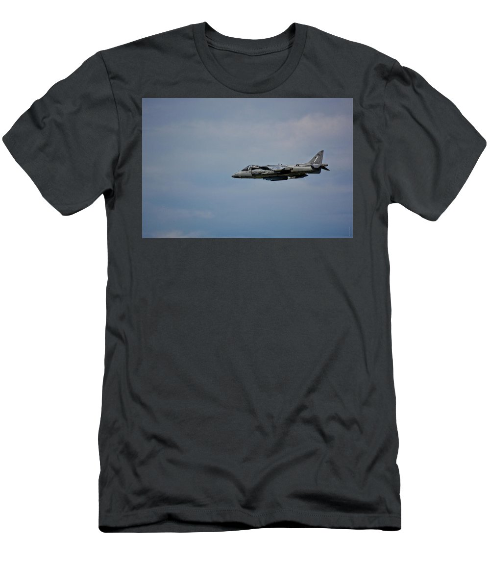 South Dakota Men's T-Shirt (Athletic Fit) featuring the photograph Av-8 Harrier-3 by M Dale