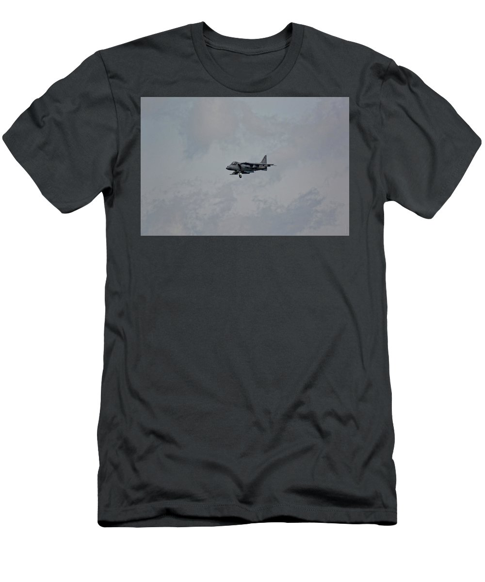 South Dakota Men's T-Shirt (Athletic Fit) featuring the photograph Av-8 Harrier by M Dale
