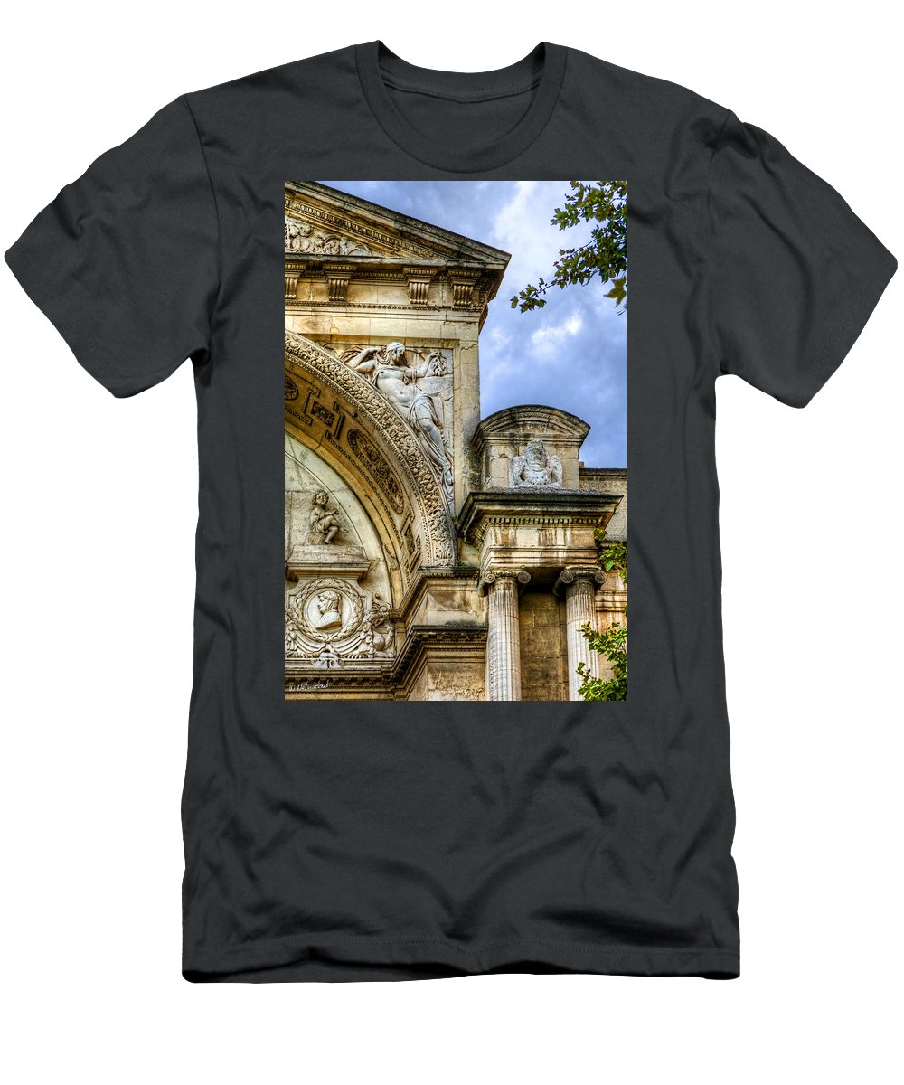 Avignon Men's T-Shirt (Athletic Fit) featuring the photograph Avignon Opera House Muse 2 by Weston Westmoreland