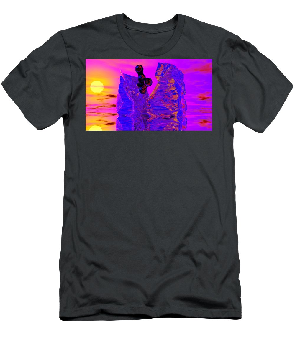 Fine Art Digital Art Men's T-Shirt (Athletic Fit) featuring the photograph Awakening by David Lane