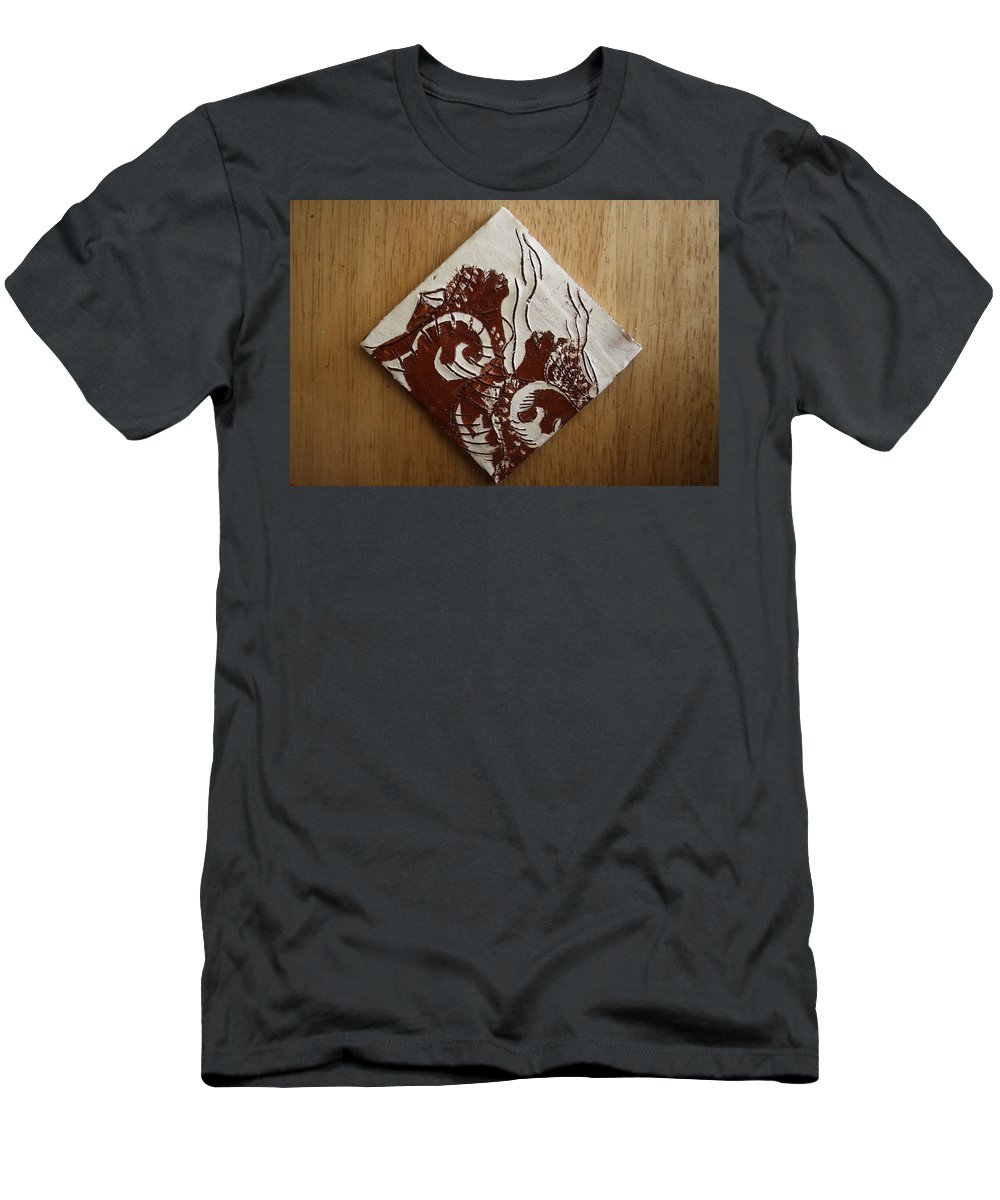 Jesus Men's T-Shirt (Athletic Fit) featuring the ceramic art Awareness - Tile by Gloria Ssali