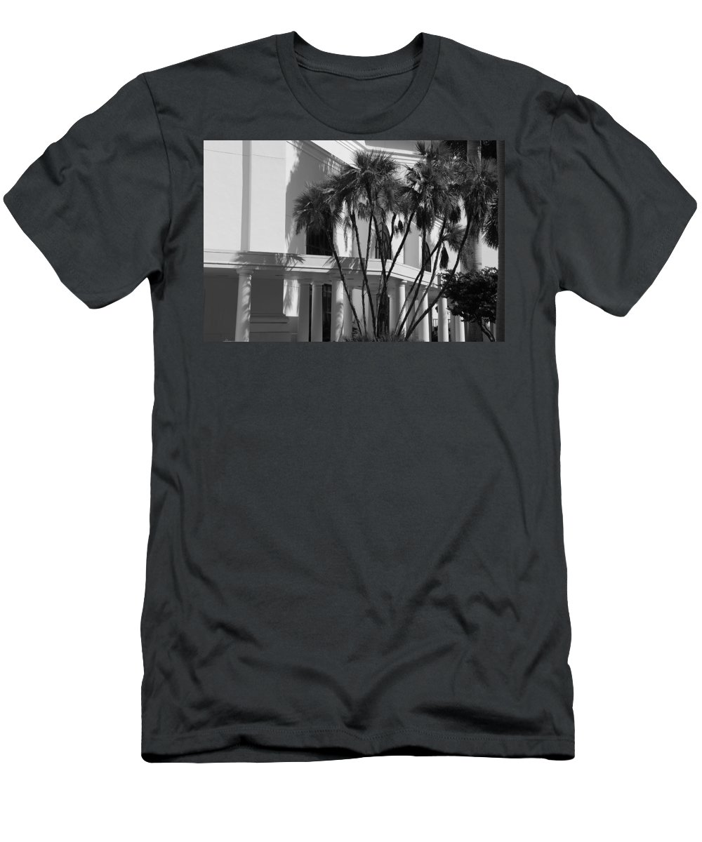 Black And White Men's T-Shirt (Athletic Fit) featuring the photograph B S Post Modern..... by Rob Hans