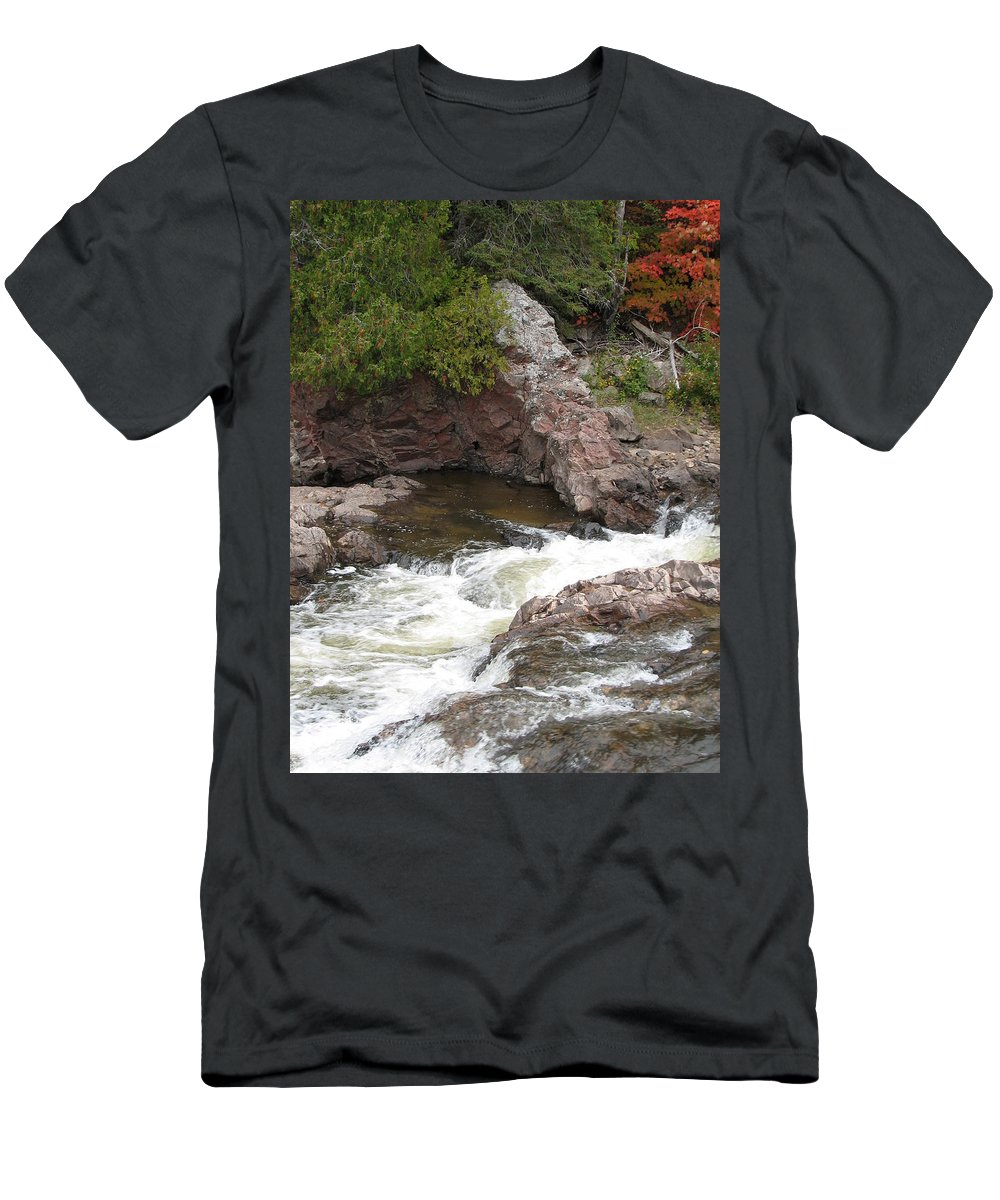 River Men's T-Shirt (Athletic Fit) featuring the photograph Babbling by Kelly Mezzapelle