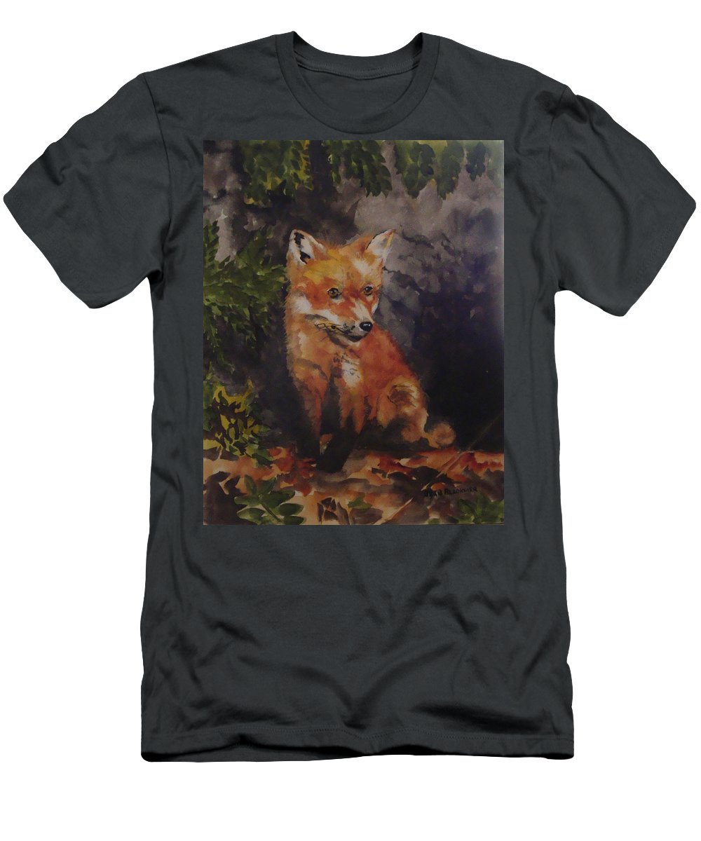 Fox T-Shirt featuring the painting Babe In The Woods by Jean Blackmer