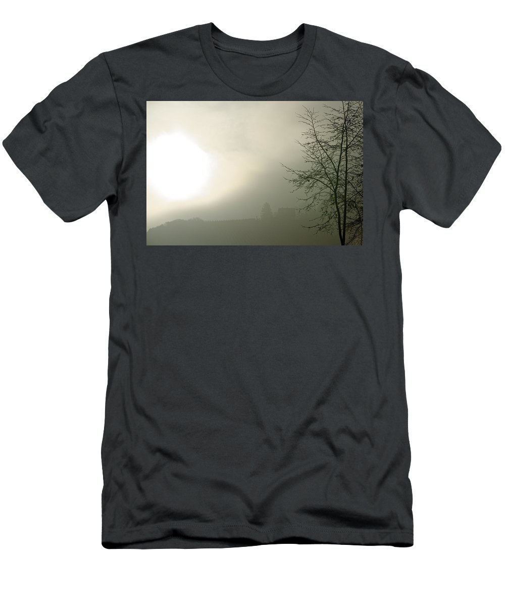 Backlight Men's T-Shirt (Athletic Fit) featuring the photograph Backlight by Hartmut Knisel