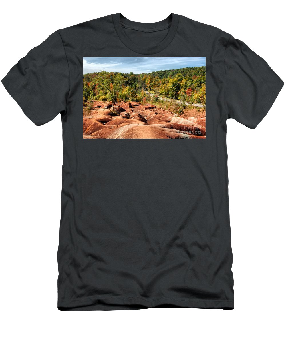 Badlands Men's T-Shirt (Athletic Fit) featuring the photograph Badlands by Joe Ng