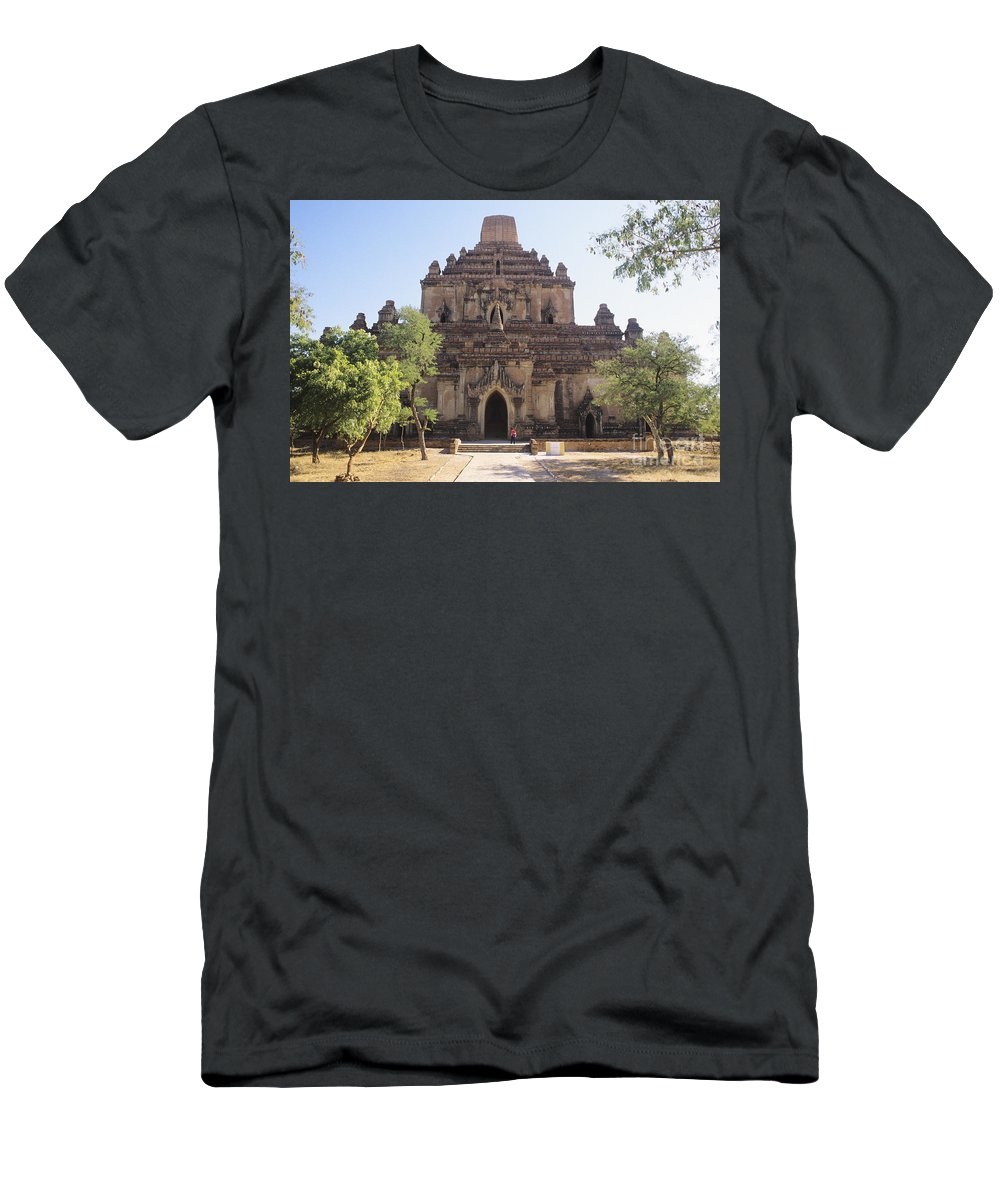 Ancient Men's T-Shirt (Athletic Fit) featuring the photograph Bagan Sulamani Temple by William Waterfall - Printscapes