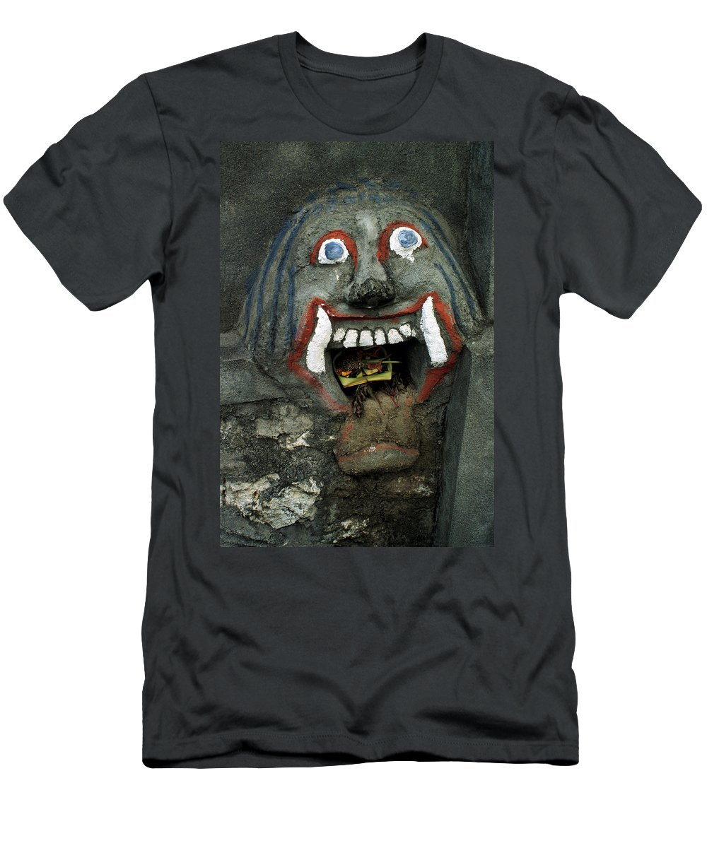 Bali Men's T-Shirt (Athletic Fit) featuring the photograph Bali Mask by Jerry McElroy