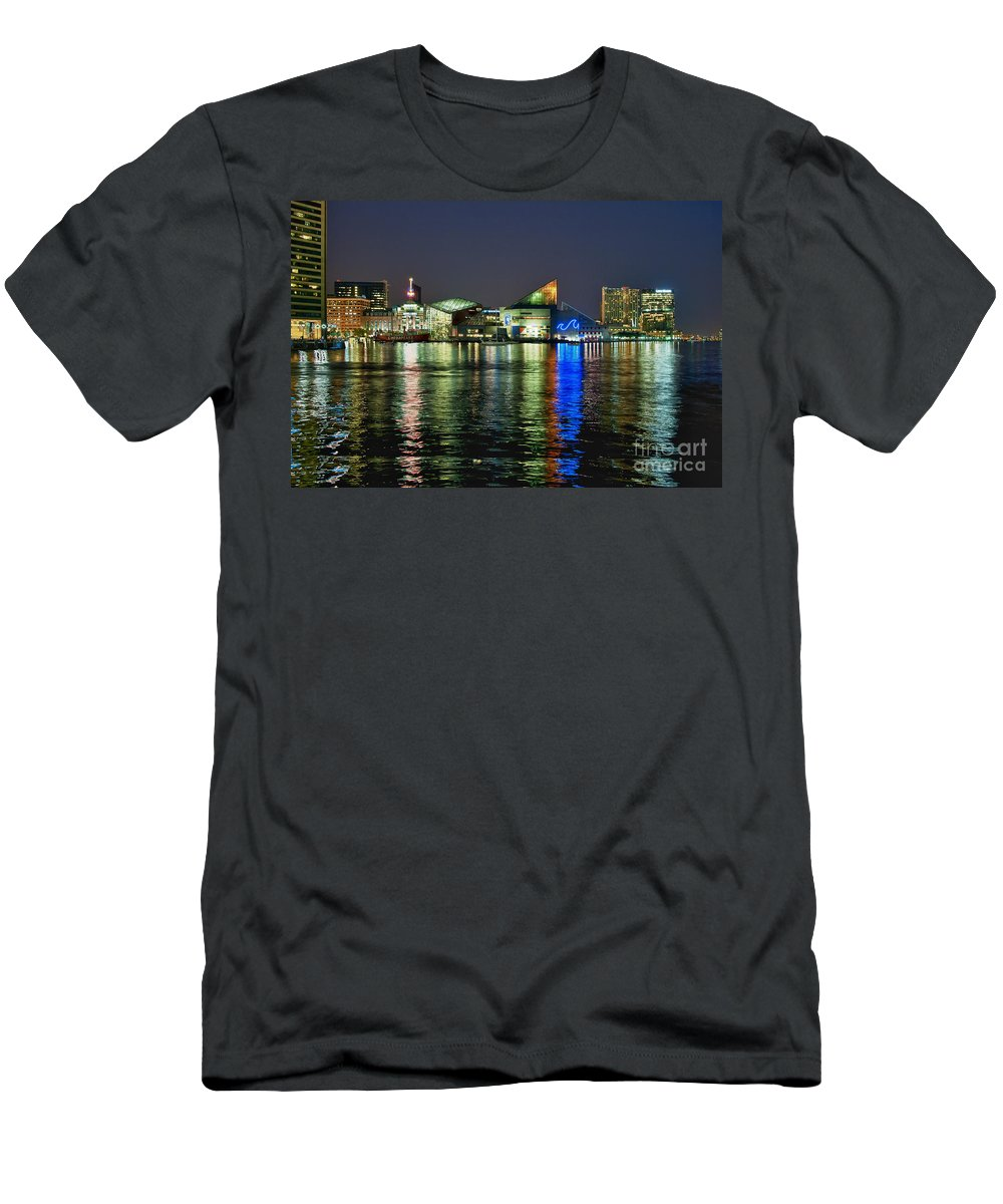 Baltimore Men's T-Shirt (Athletic Fit) featuring the photograph Baltimore Skyline by John Greim