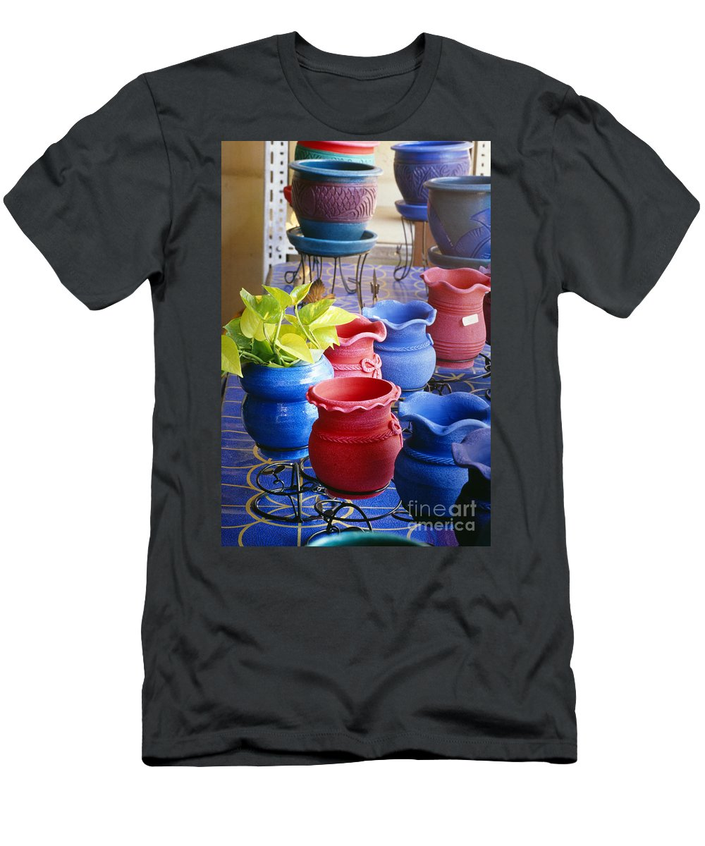 Art Men's T-Shirt (Athletic Fit) featuring the photograph Bangkok, Outdoor Market by Bill Brennan - Printscapes