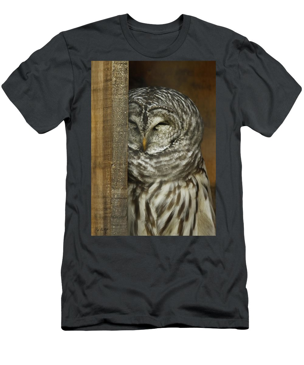 Barred Owl Men's T-Shirt (Athletic Fit) featuring the photograph Barred Owl by Phill Doherty