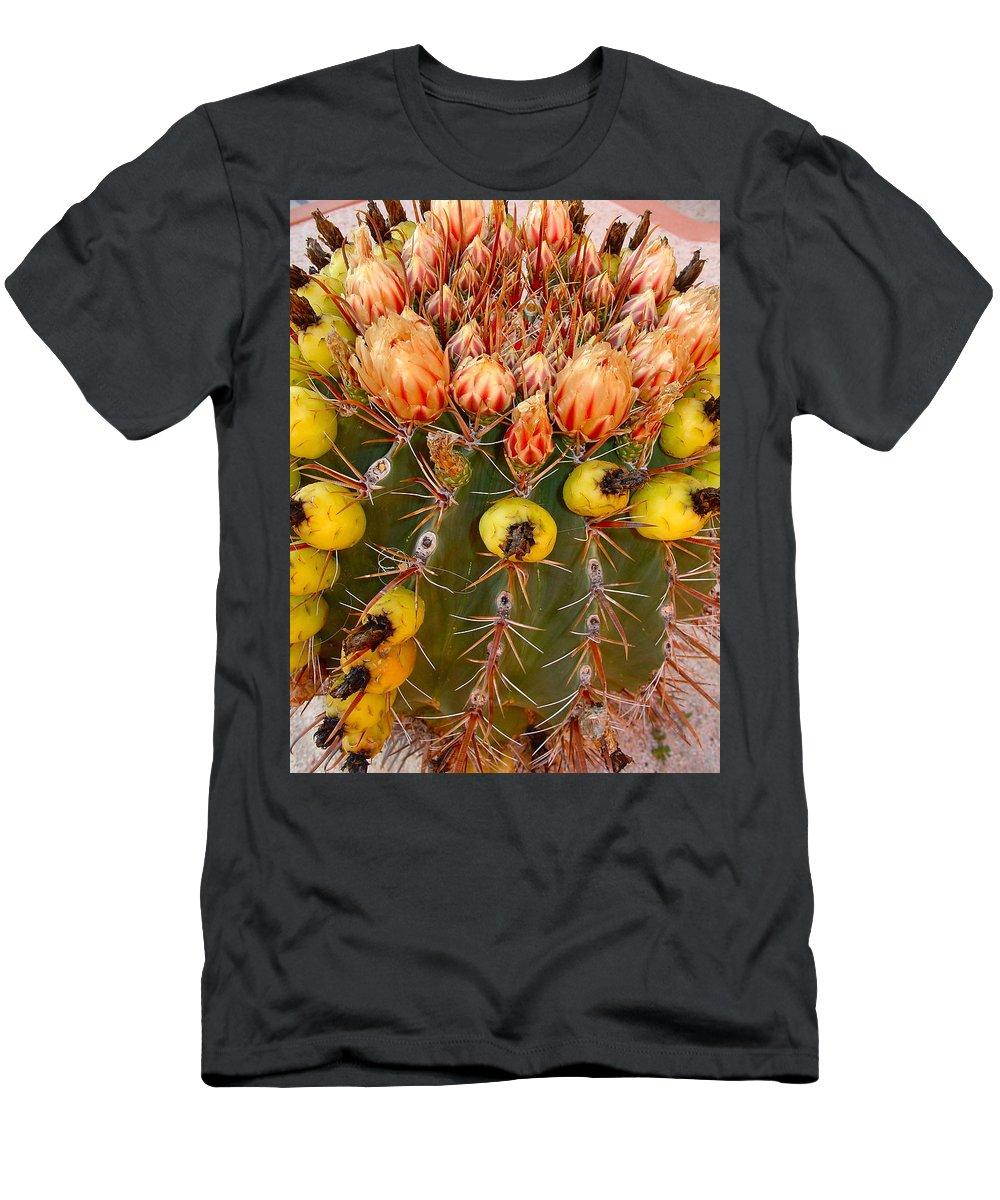 Barrel Men's T-Shirt (Athletic Fit) featuring the photograph Barrel Cactus by Karon Melillo DeVega