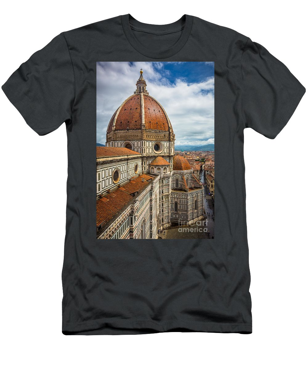 Christian Men's T-Shirt (Athletic Fit) featuring the photograph Basilica Di Santa Maria Del Fiore by Inge Johnsson