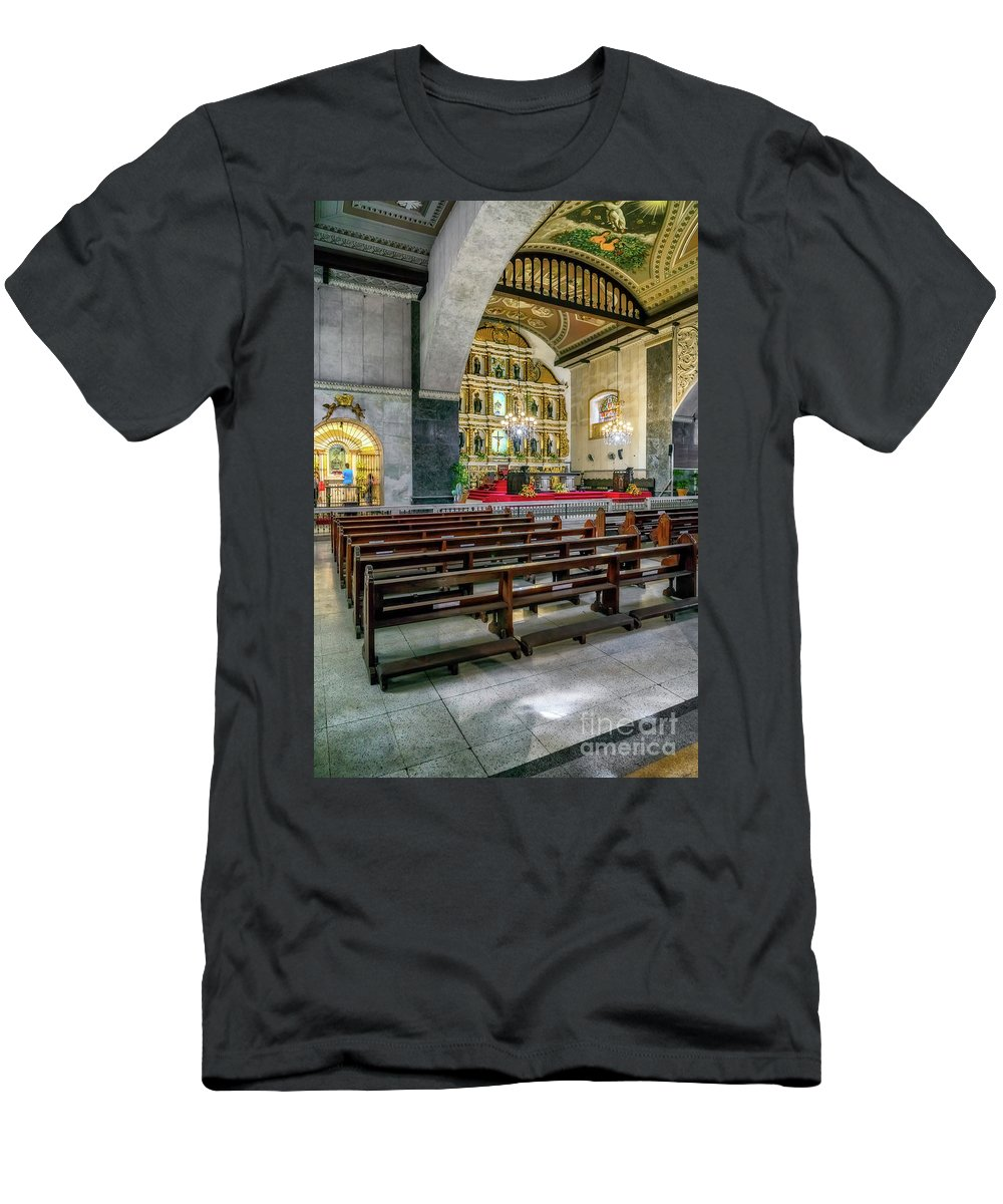 Catholic Men's T-Shirt (Athletic Fit) featuring the photograph Basilica Minore Del Santo Nino by Adrian Evans