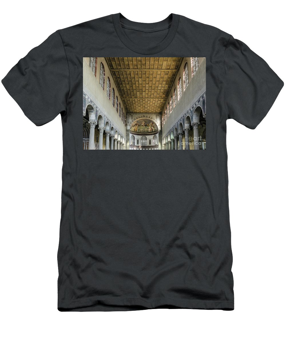 Apse Men's T-Shirt (Athletic Fit) featuring the photograph Basilica Of Saint Sabina by John Greim
