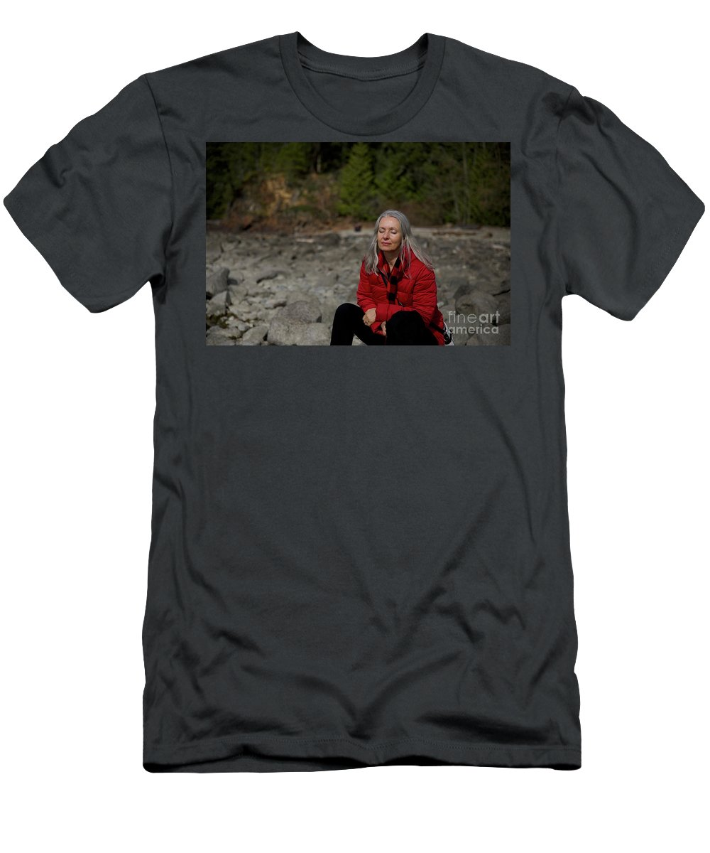 Basking In The Light Men's T-Shirt (Athletic Fit) featuring the photograph Basking In The Light by Jason Gallant
